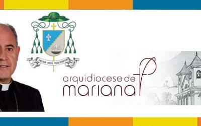 Nomeado novo arcebispo de Mariana, Dom Airton José dos Santos torna-se o 6º Arcebispo.