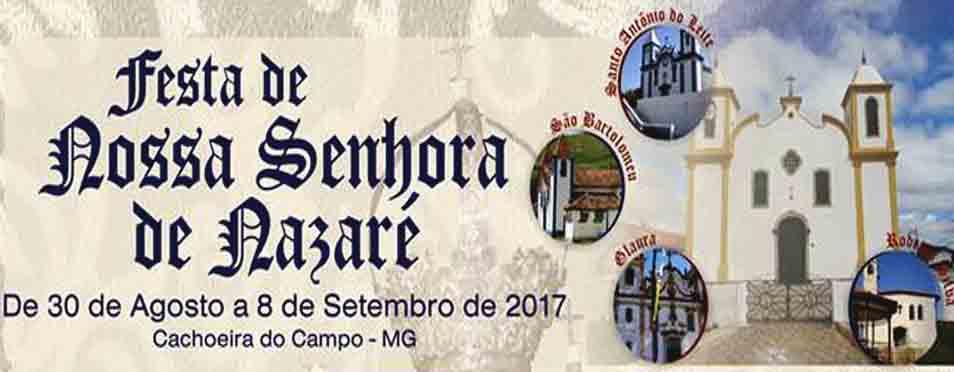 Festa da Padroeira – Cachoeira do Campo celebra festa de Nossa Senhora de Nazaré